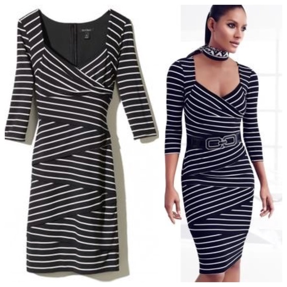 3fa820e3e6a ✨HP✨JUST IN WHBM Instantly Slimming Dress Stripe 4